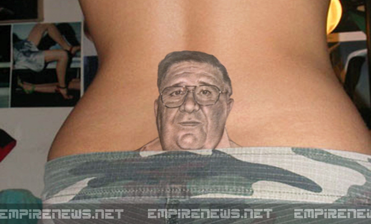 Daughter Gets Tramp-Stamp Tattoo of Dad's Face Sues for Removal Costs