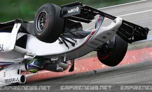 formula one racer decapitated after crash flips car