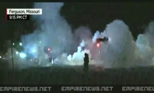 Police Accidentally Fire Laughing Gas at Ferguson, MO Protesters