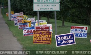 Political 'Vigilante' Removes Campaign Signs From Public Areas
