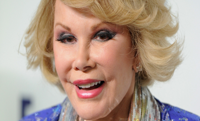 Joan Rivers' Estate to Sue Negligent Doctors for 'Outrageous Fashion Choices' During Comedian's Final Hours