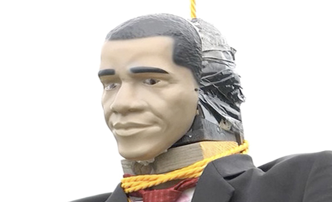 Man Faces Jail Time After Hanging Obama Prop From Tree In Front Yard