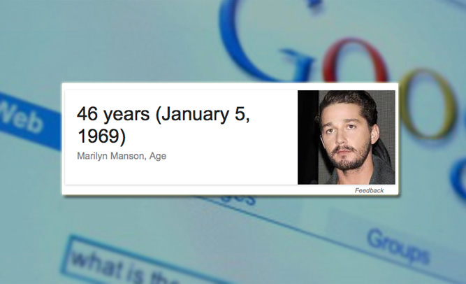 Google Programmers Admit They Don't Know Celebrities, Can't Tell Difference Between Marilyn Manson, Shia 'Labuff'