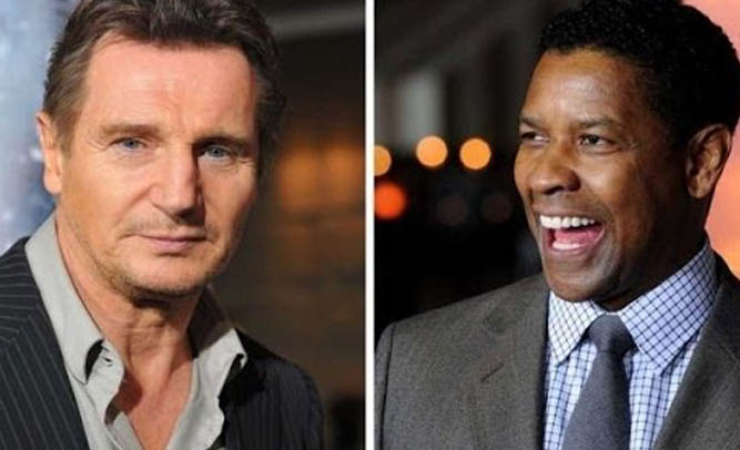 Liam Neeson To Co-Star With Denzel Washington In 'Pulp Fiction' Remake Directed By Martin Scorsese