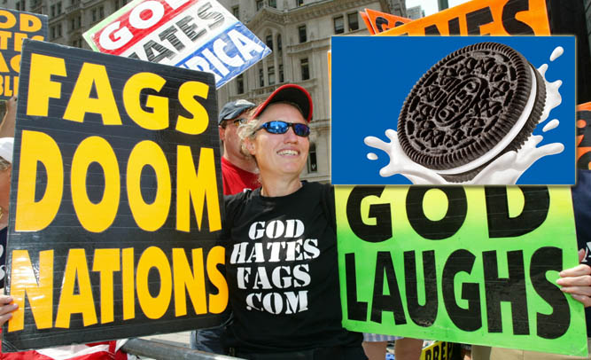 Members Of Westboro Baptist Church Say Oreo Cookies Promote Interracial Orgies