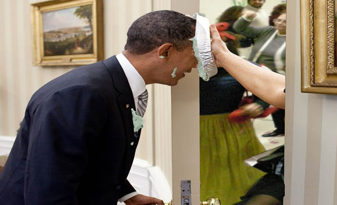 President Obama Hit With Pie; Security On High Alert