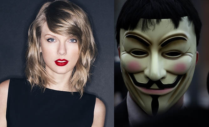 "Hacker Group ""Anonymous"" Gives In-Depth Critique of Taylor Swift's Dating Choices"