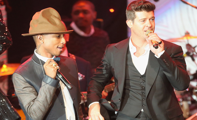 Robin Thicke and Pharrell Among Thousands of Artists Under Fire for 'Similar Sounding' Songs