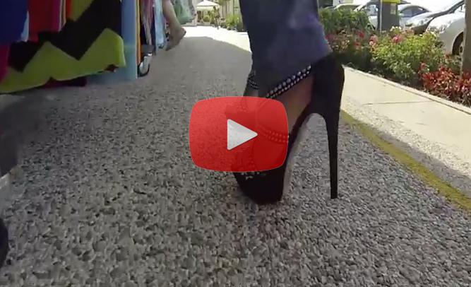 walking in heels