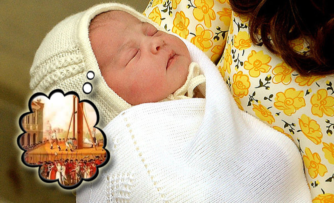 Royal Baby Princess Charlotte Plotting Death Of Those First in Line for the Throne