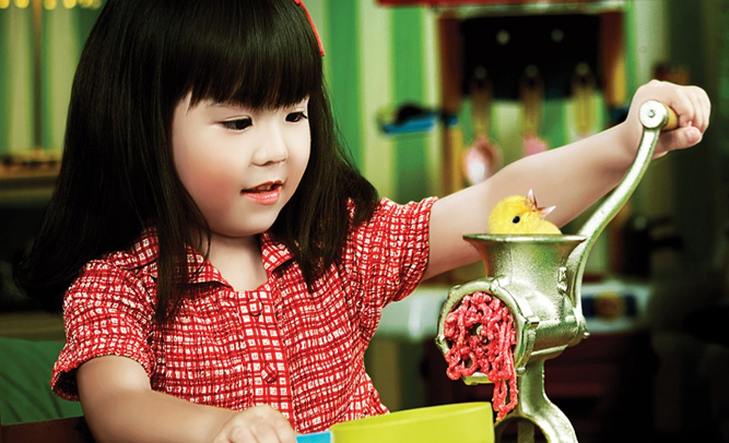 Japanese Toy Companies : Japanese toy company releases 'my first meat grinder in