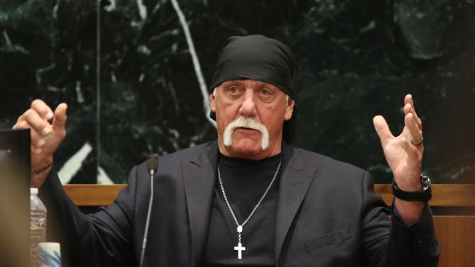 Terry Bollea, aka Hulk Hogan, testifies in court during his trial against Gawker Media, in St. Petersburg, Florida, in this file photo taken March 8, 2016.   REUTERS/Tampa Bay Times/John Pendygraft/Pool  MANDATORY NYPOST OUT